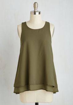 Show and Tier Top in Thyme, @ModCloth
