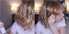 Spray and scrunch | How to Get Beach Waves For Short Hair