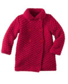 Tricot gratuit : le manteau enfant au point fantaisie : Femme Actuelle Le MAG Winter Jackets Women, Coats For Women, Raglan Pullover, Waterproof Breathable Jacket, Vest For Sale, Cardigan Design, Matching Sweaters, Cashmere Poncho, Printed Blazer
