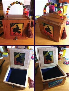 Original Pinner: Cigar box purse I made for my Sister-In-Law! ( I just picked up one of these. Would need a latch put on it) Cigar Box Projects, Cigar Box Crafts, Bridesmaid Boxes, Asking Bridesmaids, Cigar Box Purse, Altered Cigar Boxes, Wooden Cigar Boxes, Premium Cigars, Cigar Room