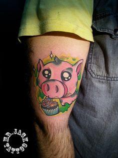 #maialino #sweet #pig #pigcartoon #muffin #dolci #tatuaggi #tattoo #mrjack #mrjacktattoo #color #arte #artist #colortattoo #bodyart #mrjacktattoofamily #cartoon #tattoocartoon