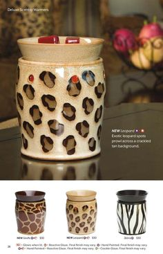 Coming September 1st...New Animal print Scentsy Warmers! I can't wait :)