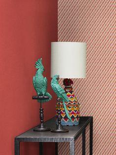 """Designed for Living, Lamp Souk """"Rainbow"""" lighting, Wallpaper """"Nest"""""""