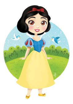 """I've made a disney princesses collection! Let's start with the first one Princess Snow White from Disney's """"Snow White and the Seven Dwarfs"""". Cute Disney, Disney Girls, Baby Disney, Images Disney, Disney Pictures, Disney Princess Drawings, Disney Drawings, Aurora Disney, Disney Facts"""