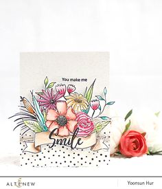RejoicingCrafts: My floral card for the Altenew 4th Anniversary Blog Hop! #altenew #handmade #card #flower #watercolor