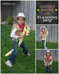 """Home made """"horses"""" and vest coloring project? Cowboy Roundup Game - Its a Western Cowboy Party"""