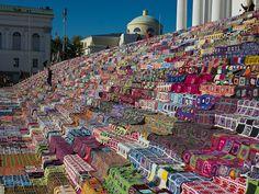 World's largest patchwork quilt in Helsinki