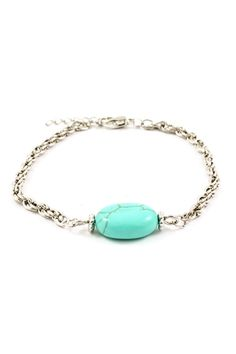 turquoise bead bracelet <3