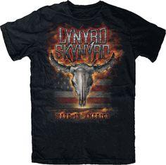 acecbde707d Lynyrd Skynyrd Made in America Mens T-Shirt - This Lynyrd Skynyrd mens t- shirt in black
