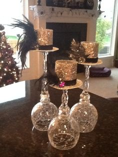 top hat centerpieces | Top hat halloween centerpiece