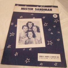 SANDMAN SHEET MR MUSIC