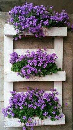 The 20 Best Vertical Garden Ideas and Designs in 2019 … - Diy Garden Projects Vertical Pallet Garden, Vertical Garden Design, Vertical Planter, Garden Pallet, Vertical Gardens, Pallet Gardening, Gardening Shoes, Pallet Fence, Wooden Garden