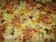 Γεύση Ελευθερίας: Πίτσα με κρέμα γάλακτος