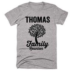 THOMAS Family Name Reunion Gathering Surname T-Shirt