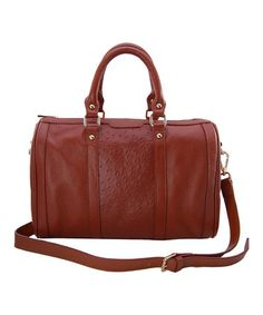 Take a look at this Camel Dakota Satchel by Mia Capella on #zulily today!