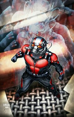 ANTMAN colored by grandizer05 on DeviantArt