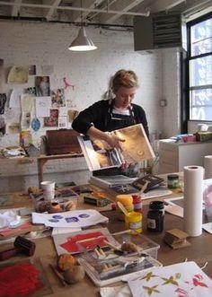 Lotta Jansdotter teaching in Brooklyn 2009.  Wonderful teacher. :-)
