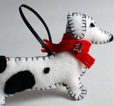 Wiener dog ornament tutorial