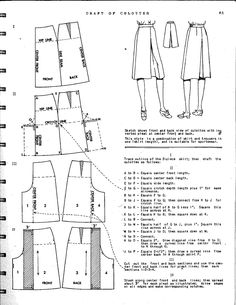 Ladies' culotte pattern drafting                                                                                                                                                      More