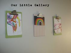 Cool way to show off kids' artwork
