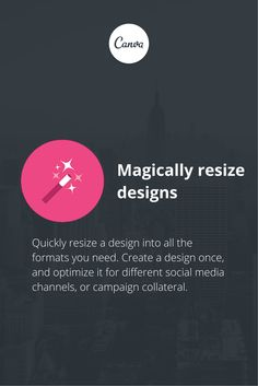 Canva for Work: WOW! You can magically resize your graphics! https://about.canva.com/work/
