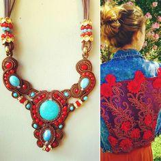 Glamour y estilo propio #moda #complementos #xella #soutache #collares #jewelrydesign #vaqueraspersonalizadas