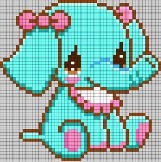 Here is a great collection of perler bead, hama bead or fuse bead patterns for you to use with your own peg boards. You'll find all kinds of birds, insects, animals, flowers and transport perler bead patterns in this list. Elephant Cross Stitch, Cross Stitch Baby, Cross Stitch Animals, Cross Stitch Charts, Cross Stitch Patterns, Cross Stitches, Fuse Bead Patterns, Kandi Patterns, Perler Patterns