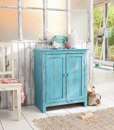 Patiner un meuble en bois en couleur - Côté Maison