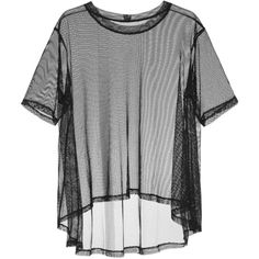 Taylor Mesh T-shirt (440 BRL) ❤ liked on Polyvore featuring tops, t-shirts, taylor tee, mesh top, taylor t shirts, mesh t shirt and mesh tee