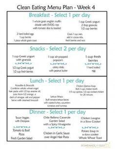 Diet Plan To Lose Weight : Clean Eating Menu Plan Week- fre printable weekly meal plans Clean Eating Pizza, Clean Eating Diet Plan, Simple Diet Plan, Clean Eating Recipes For Weight Loss, Clean Eating For Beginners, Eating Habits, Clean Eating Results, Clean Meal Plan, Paleo Diet For Beginners