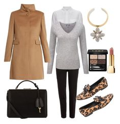 """""""Business Casual from My Closet"""" by arta13 on Polyvore featuring Equipment, Etro, Pure Collection, MaxMara, Louis Vuitton, Gucci, Mark Cross, Tory Burch and Yves Saint Laurent"""
