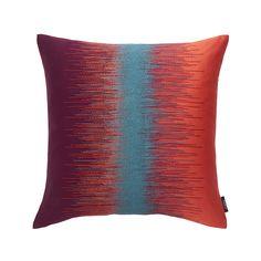 Discover the Sahco Cosima Kissen - 50x50cm - Orange / Blau at Amara