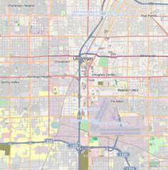 Road map of Las Vegas, City Maps Inc, 2002; categories: navigation ...
