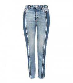 Topshop Moto Panel Straight Leg Jeans