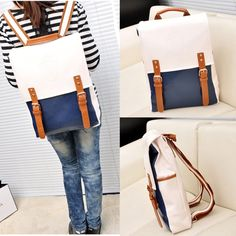 Fashion New Backpack Retro Schoolbag Korean Leisure Women's Handbags Bookbags #Unbranded #Backpack
