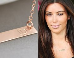 Check out Gold Bar Necklace, Nameplate Necklace, Roman Numeral Necklace, Personalized Necklace, Customized Necklace, Monogrammed Gift on malizbijoux