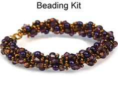 Beading Kit and Pattern Sparkling Spiral by SimpleBeadKits