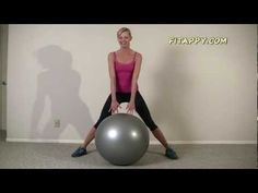 ▶ Total Body Stability Ball Workout ★ Sculpt & Strengthen your body - YouTube.  time 13:43