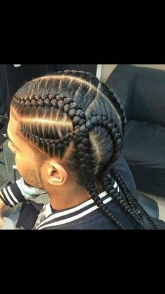 Latest Braided Hairstyles for Men Today we bring you the latest and most sophisticated braided hairstyles for men that every man of style can rock .This amazing braided hairstyles wil… Cornrow Hairstyles For Men, Latest Braided Hairstyles, Girl Hairstyles, Teenage Hairstyles, Braid Styles For Men, Braid Designs For Men, Braids For Boys, Little Boy Braids, Curly Hair Styles
