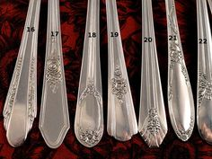 Floral Art Deco Mismatched Silverplate Flatware Choice of
