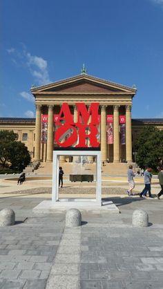 AMOR sculpture at the Philadelphia Museum of Art