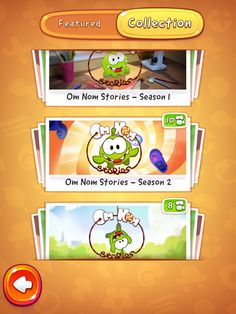 CUT the ROPE 2 | Video Vault Category Selection | UI, HUD, User Interface, Game Art, GUI, iOS, Apps, Games, Grahic Desgin, Puzzle Game, Brain Games, Zeptolab | www.girlvsgui.com