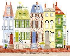 "Old Town Alexandria, Virginia print 14""x11"" by alidouglass on Etsy"