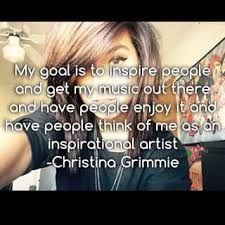 christina, u have inspired so many people including myself. Ur so amazing n ur voice liv on 4ever