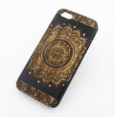 Black Ink Bamboo Cover for Apple iPhone 5/5S Sundala by STUCHI