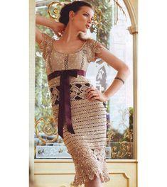 Crochet cocktail dress PATTERN exquisite design by OnlyFavorites, $9.75