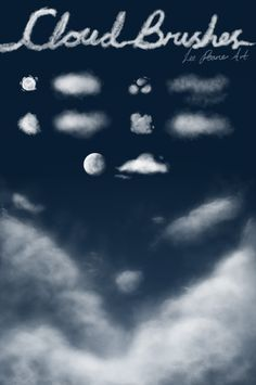 Cloud Brushes by para-vine.deviantart.com on @deviantART