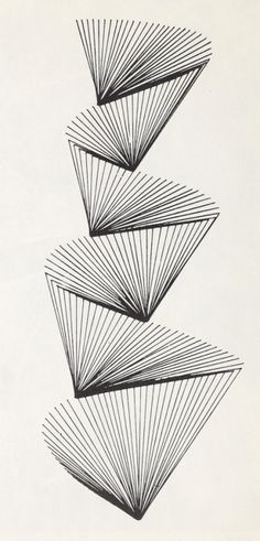 Stretched thread. Creative Drawing, Point and Line. 1963.
