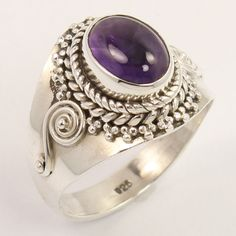 Natural AMETHYST Gemstone 925 Sterling Silver Ring Size US 6.75 Wholesale Store #Unbranded