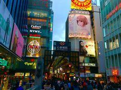 Osaka ♡ 看板がとてもきれい。